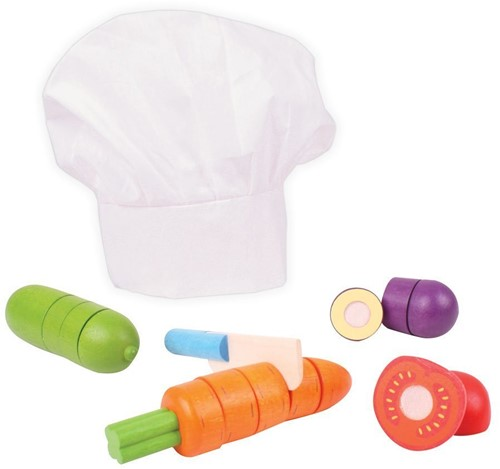 Bigjigs Cutting Vegetables Chef Set
